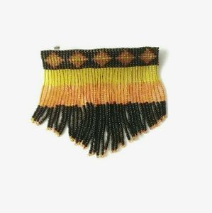 Beaded Fringed Halloween Jewelry Barrette New